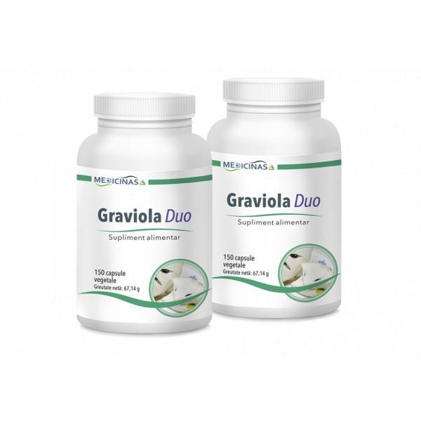Graviola (150 capsule), Medicinas PACHET 2 LUNI (2 flacoane)