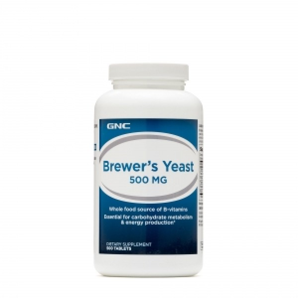Drojdie de bere 500 mg (500 capsule), GNC