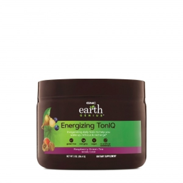Energizing toniq cu aroma de zmeura si ceai verde (86.4 grame), GNC EARTH GENIUS