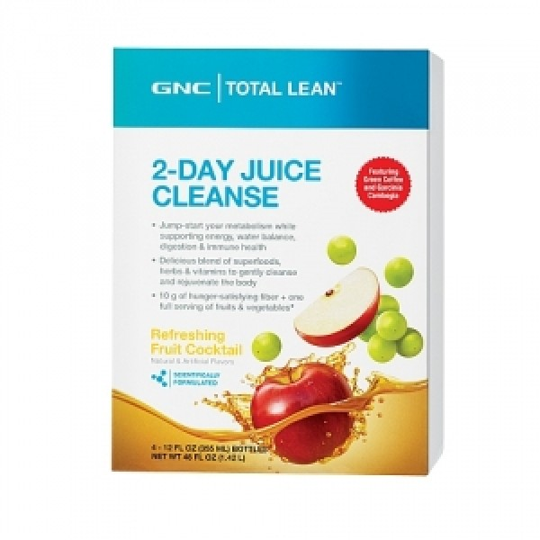 TOTAL LEAN Program de detoxifiere in 2 zile - aroma racoritoare de cocktail de fructe (1.42 litri), GNC