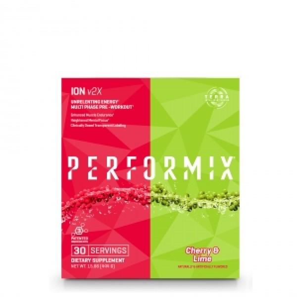 PERFORMIX ION V2X Pre-workout cu aroma de cirese si lamaie verde (444 grame), GNC