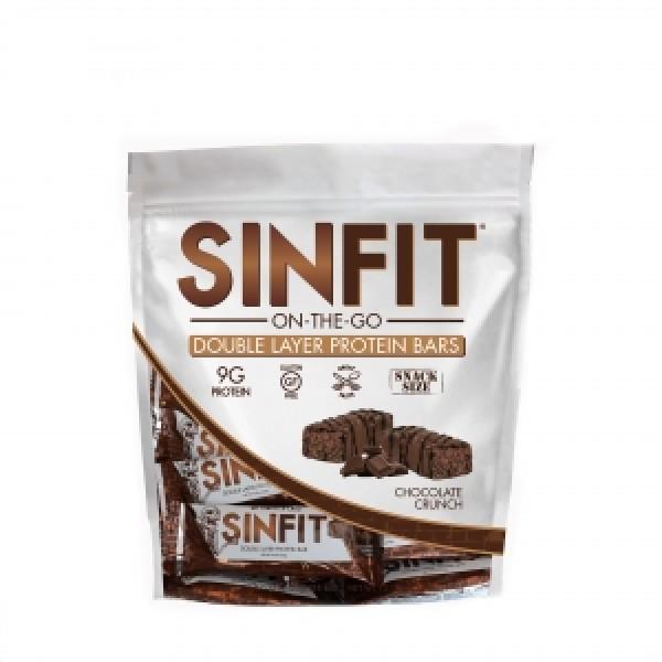 SINFIT Batoane proteice - aroma de ciocolata crocanta (996 grame), GNC