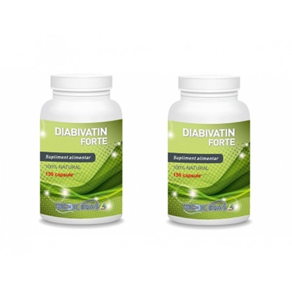 Diabivatin Forte (150 capsule), Medicinas PACHET 2 LUNI (2 flacoane)