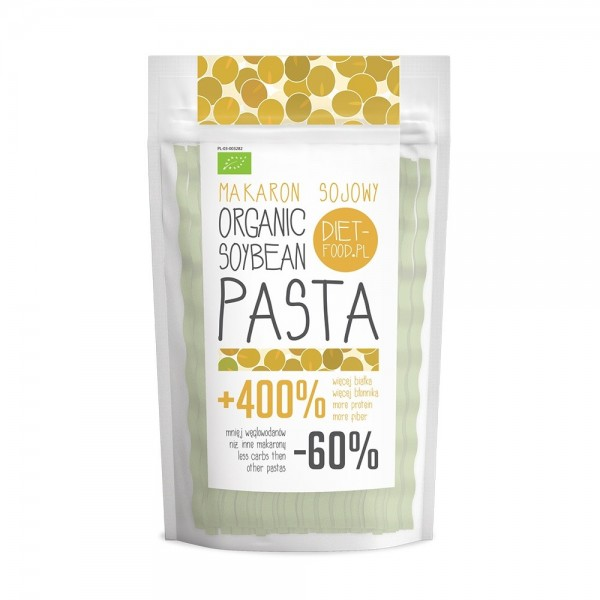 Fettuccine bio din soia galbena (200g), Diet-Food
