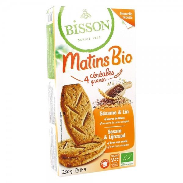 Biscuiti MIC DEJUN cu cereale, susan si in (200g), Bisson