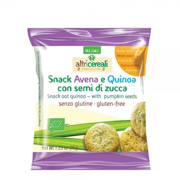 Snack din ovaz si quinoa cu seminte de dovleac (35g), Probios