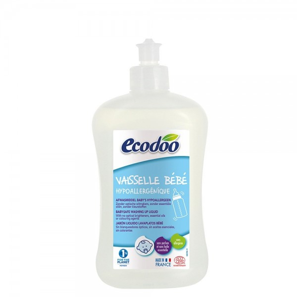 Detergent hipoalergenic biberoane si vesela bebelusi (500ml), Ecodoo