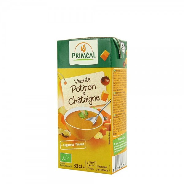 Supa crema de dovleac si castane (330ml), Primeal