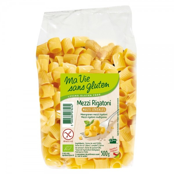 Mezzi rigatone multicereale - fara gluten (500g), Ma vie sans gluten