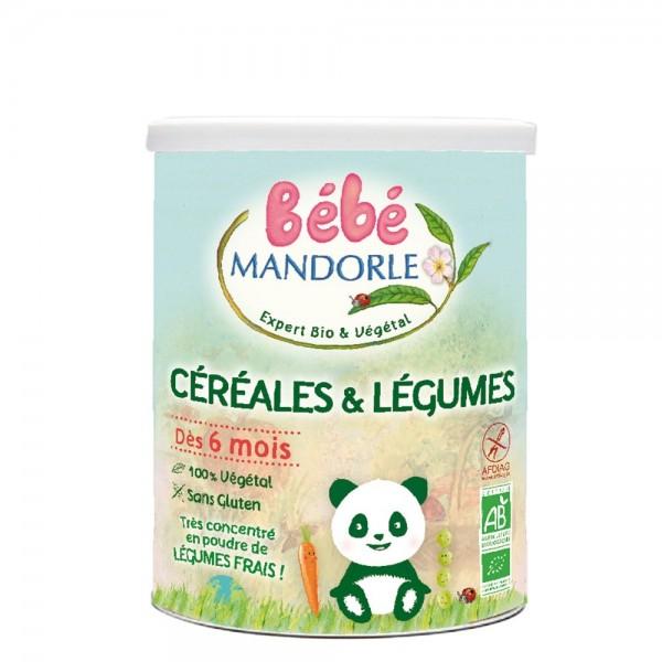 Cereale + legume pentru bebelusi - de la 6 luni (400g), Bebe Mandorle