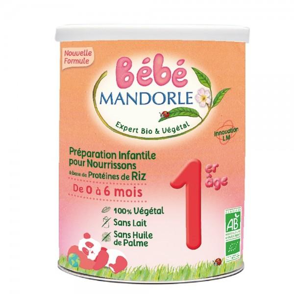 Formula 1 Lapte praf vegetal pentru bebelusi - de la nastere (800g), Bebe Mandorle