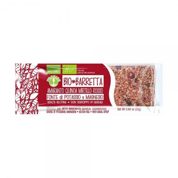 Baton fara gluten cu amarant, quinoa si merisoare (25g), Probios