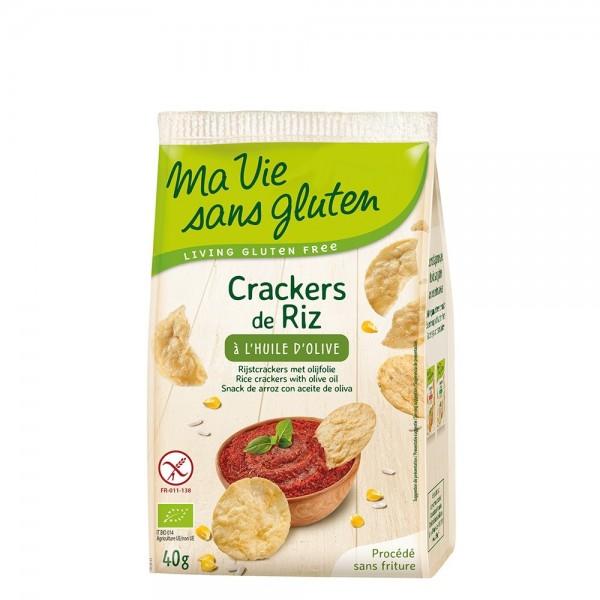 Crackers din orez cu ulei de masline - fara gluten (40g), Ma vie sans gluten