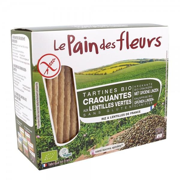Turte crocante cu linte verde - fara gluten (150g), Le Pain Des Fleurs