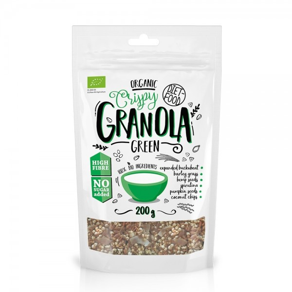 Granola bio cu green mix (200g), Diet-Food
