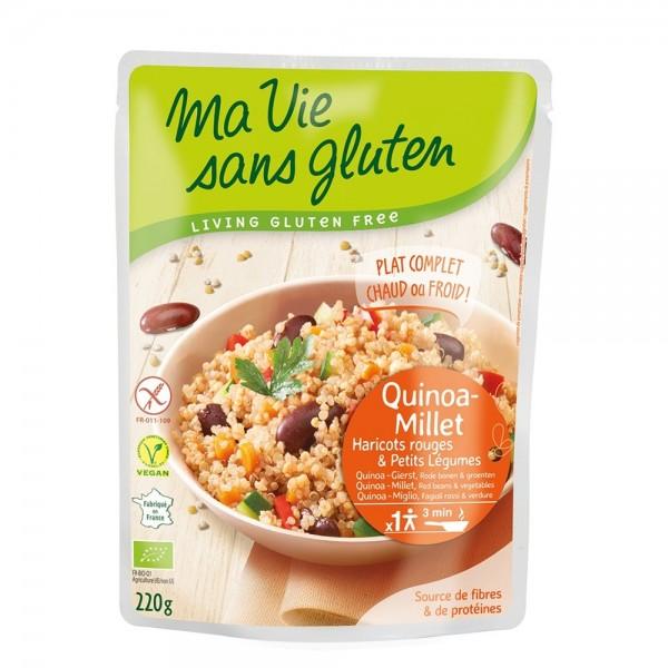 Quinoa si mei cu legume - fara gluten gata preparat (220g), Ma vie sans gluten