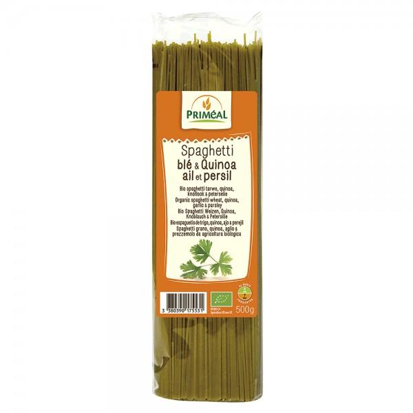 Spaghetti cu quinoa, usturoi si patrunjel (500g), Primeal
