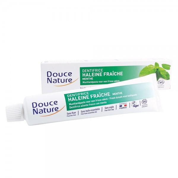 Pasta de dinti cu menta anti halena (75ml), Douce Nature