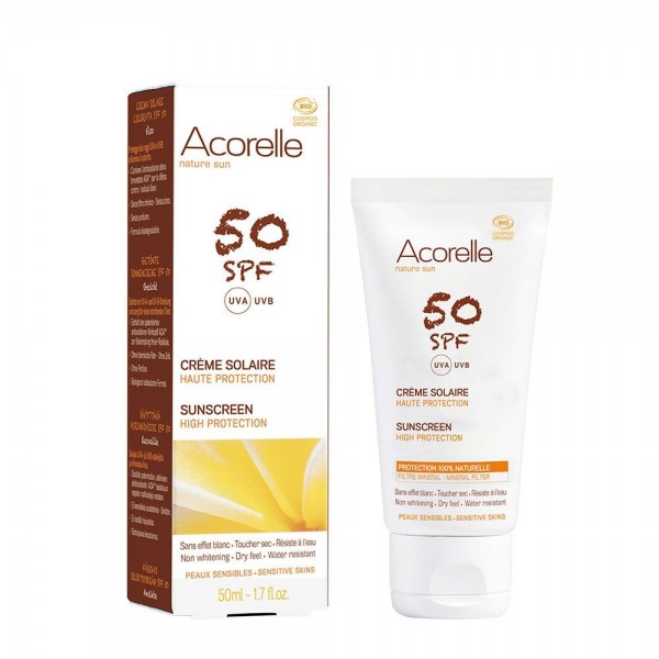 Crema bio protectie solara fata SPF 50 - (50ml), Acorelle