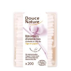 Betisoare de urechi cu bumbac organic (200buc), Douce Nature