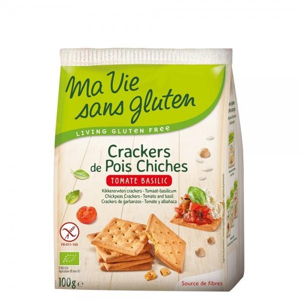 Crackers cu naut, rosii si busuioc - fara gluten (100g), Ma vie sans gluten