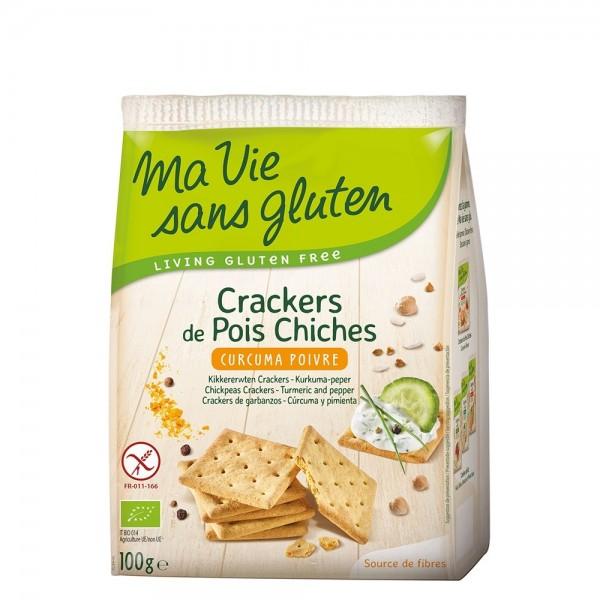 Crackers cu naut, curcuma si piper - fara gluten (100g), Ma vie sans gluten