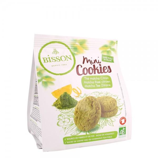 Mini Cookies cu ceai matcha si lamaie (120g), Bisson