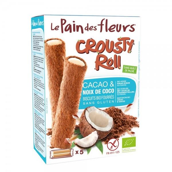 Crousty Roll cu cacao si cocos - fara gluten (125g), Le Pain Des Fleurs
