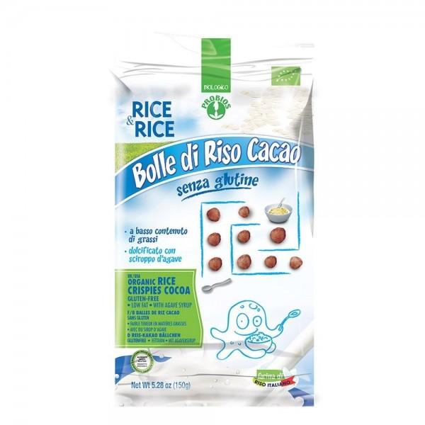 Bilute de orez cu cacao fara zahar, fara gluten (150g), Probios