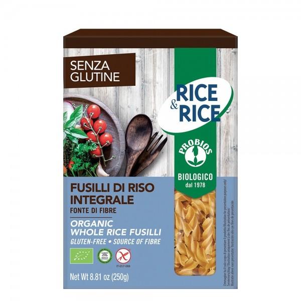 Fusilli de orez integral - fara gluten (250g), Probios
