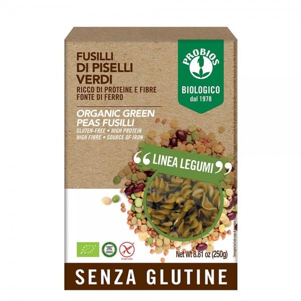 Fusilli din mazare verde- fara gluten (250g), Probios