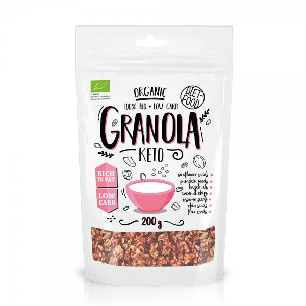 Granola bio Keto (200g), Diet-Food