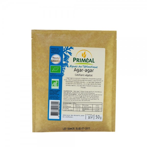 Agar Agar (pudra) gelifiant (50g), Primeal