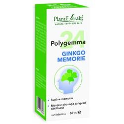 Polygemma 24 - Ginkgo Memorie (50 ml), Plantextrakt