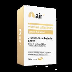 Air7 Vitamina Plamanilor Pentru Fumatori (30 capsule), Green Spild
