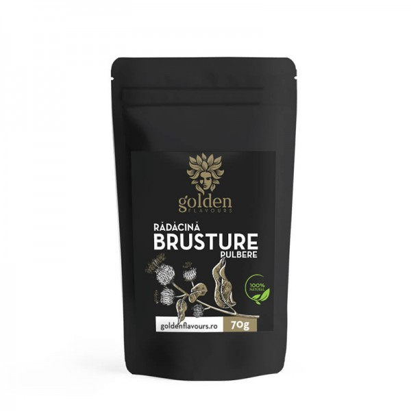 Brusture pulbere 100% naturala (70 grame), Golden Flavours