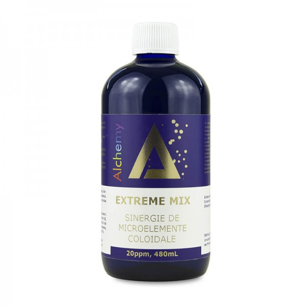 Extreme Mix Sinergie de aur, zinc si cupru coloidal 20ppm (480 ml), Pure Alchemy