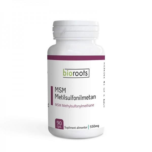 MSM Metilsulfonilmetan 550mg ( 90 capsule), Bioroots