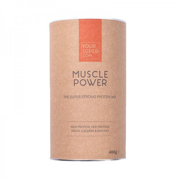 Muscle Power Organic Superfood Protein Mix Pachet 3 bucati (400 grame), Your Super