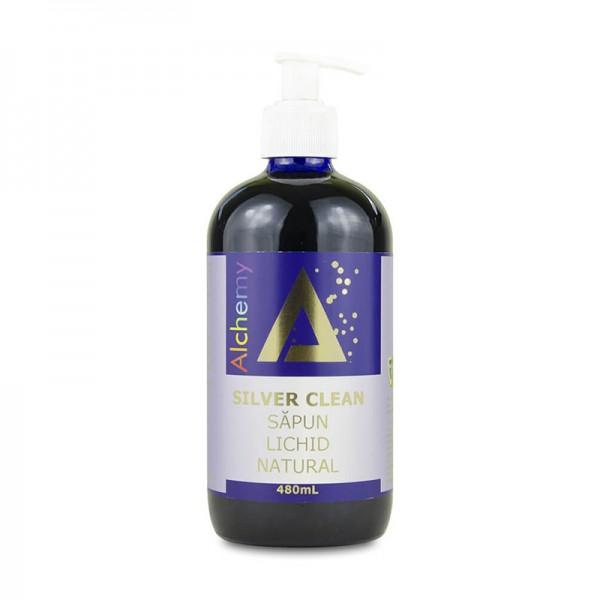 Silver Clean Sapun lichid natural cu aur si argint (480 ml), Pure Alchemy