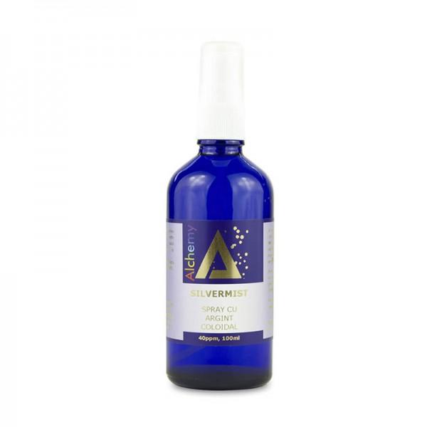 Silver Mist Pulverizator spray cu argint coloidal 40ppm (100 ml), Pure Alchemy