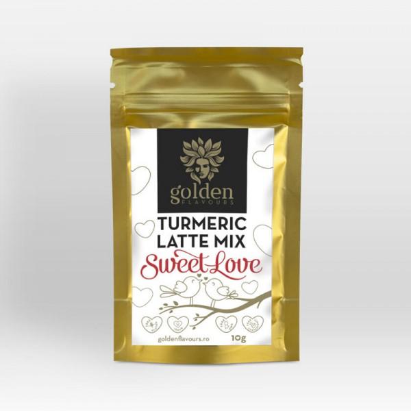 Turmeric Latte Mix Sweet Love Pachet 5 bucati + 1 gratis (10 grame), Golden Flavours