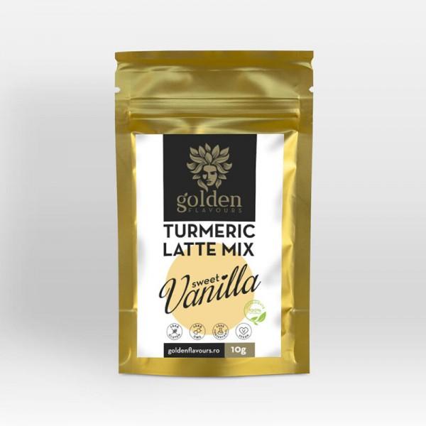Turmeric Latte Mix Sweet Vanilla (10 grame), Golden Flavours