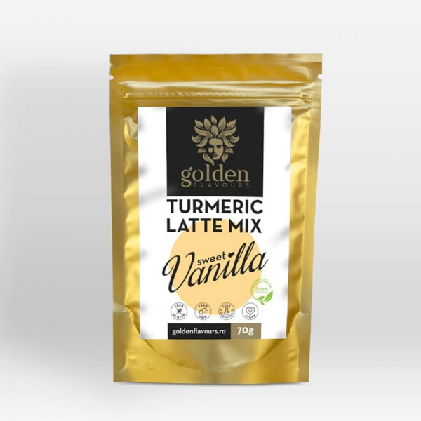 Turmeric Latte Mix Sweet Vanilla (70 grame), Golden Flavours