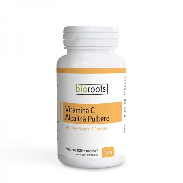 Vitamina C Alcalina pulbere 100% naturala (100 grame), Bioroots