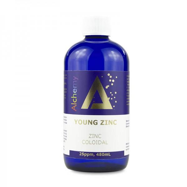 Zinc coloidal Young Zinc 25ppm (480 ml), Pure Alchemy