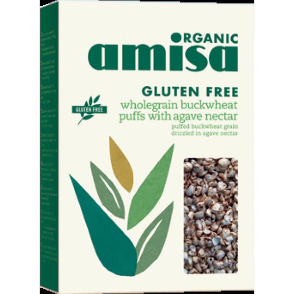 Hrisca integrala expandata cu sirop de agave fara gluten bio (225 grame)