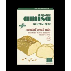 Mix pentru paine fara gluten cu seminte bio (500 grame), Amisa