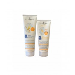 Pachet Promo Sensitive Skin Lapte de baie calmant + CADOU Sensitive Skin Baby Lapte de baie calmant, Attitude