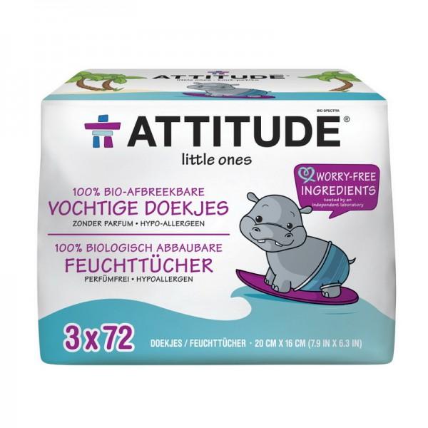 Rezerva şerveţele umede, 100% biodegradabile, fara miros (216), Attitude